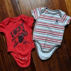 2 pack baby boy onsies